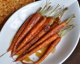 Bourbon-Glazed Roasted Carrots by A Veggie Venture 2011-400