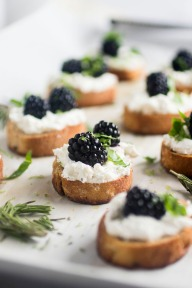 HG Blackberry goat cheese crostini
